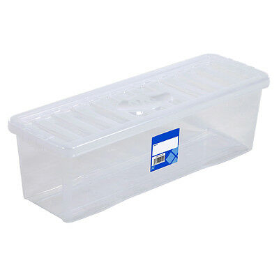 CD Plastic Storage Box Clear Container With Lid Home Storage Organiser Boxes