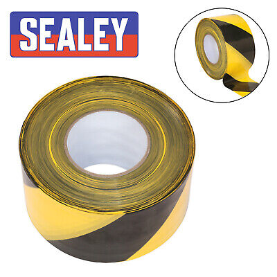 Sealey Safety Hazard Warning Barrier Tape Non Adhesive 80mm x 100m BTBY