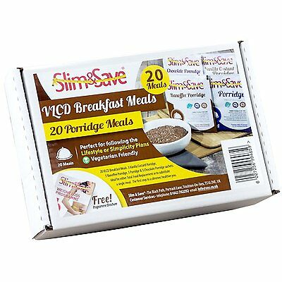20 Slim&Save VLCD Breakfasts- Banoffee, Chocolate, Vanilla & Original Porridge