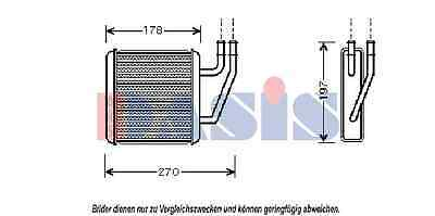 AKS DASIS Heat Exchanger, Interior Heating 046011n for Ford - Seat - VW