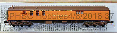N Scale  MICRO-TRAINS 148 00 120 MILWAUKEE ROAD 70' Heavyweight Mail Baggage Car