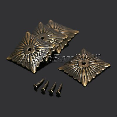 100pcs Antique Bronze Square Upholstery Nails Tack Studs Furniture Decoration