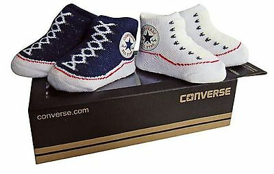 Converse Baby Bootie Socks Gift Box - Athletic Navy & White - 2 Pack