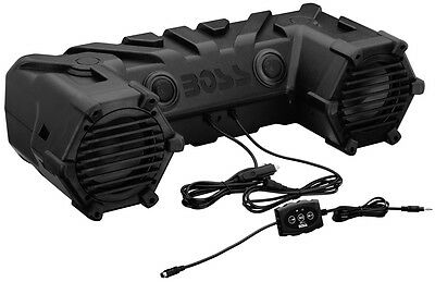 "Boss Dual 450W 6.5"" ATV/Marine Amplified Waterproof Speakers+Bluetooth 