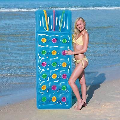 Inflatable 18 Pocket Fashion Sun Beach Swimming Pool Lounger Lilo Air Bed