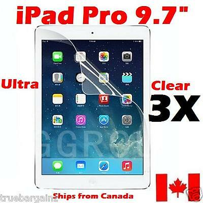 3x Premium Ultra Clear Screen Protector for Apple iPad Pro 9.7""