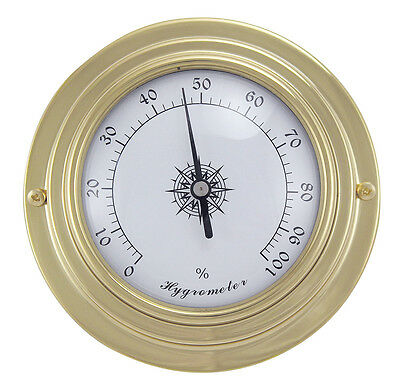 Maritimes Hygrometer in Messing - Boot Schiff Yacht Instrument - sc-9403