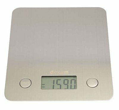 Dexam STAINLESS STEEL DIGITAL Kitchen SCALES - Weights up to 5kg LCD Display