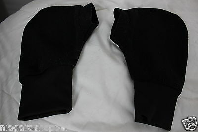 ROWING POGIES/MITTS/GLOVES*Black Poly Fleece*One Size*Never Used*Made in Canada*