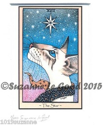 Siamese Cat Tarot Card The Star Print From Original Painting By Suzanne Le Good