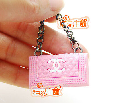 Free shipping! 1/6 Scale Dollhouse Miniature Barbie Doll Lady Pink Handbag Bag