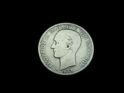 Griechenland, 1 Drachme , 1873, Georg I., Silber.! orig.! s/ss.!