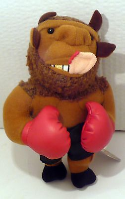 1998 Infamous Meanies Mike Bison Plush Beanie Nwt 7""