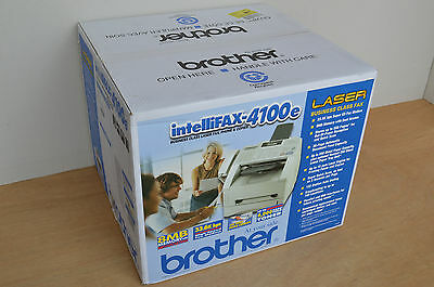 Brand New Brother IntelliFAX 4100e Business Laser Fax Printer 33.6kbps MSRP $299