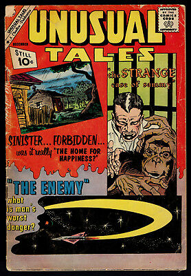 1961 Charlton Unusual Tales #31 GD 1957 DC Gang Busters #57 GD