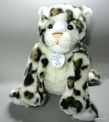 "BABW Spotted Snow Leopard Plush WWF Build a Bear 11"" 2005 Retired Soft"