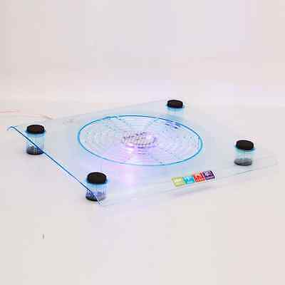 """USB 14.1""""-15.4"""" Laptop Fan LED Powerful Notebook Cooling Stand Cooler Pad Blue"""