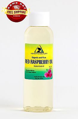 Red Raspberry Seed Oil Refined Organic Carrier Cold Pressed 100% Pure 2 Oz