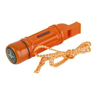 5 in 1 Multi-function Emergency Survival Compass Whistle Camping Tool G#