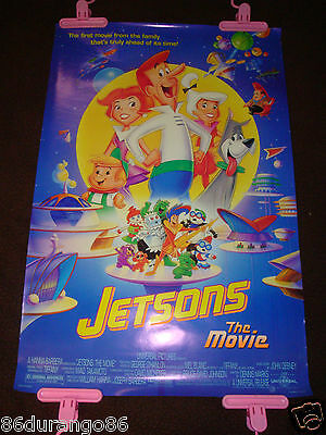 Vintage 1990 Original Movie Poster Jetsons The Movie Hanna Barbera Tiffany