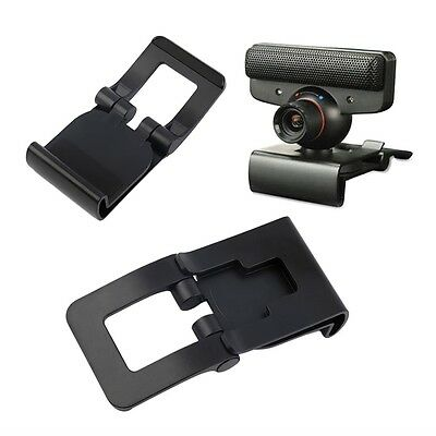 New Black TV Clip for Sony PS3 Move Eye Camera Mount Holder Stand Adjustable G#