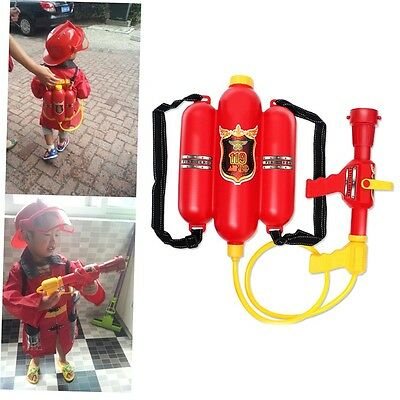 Child Fire Backpack Nozzle Water Gun Toy Air Pressure Water Gun Summer Beach G#