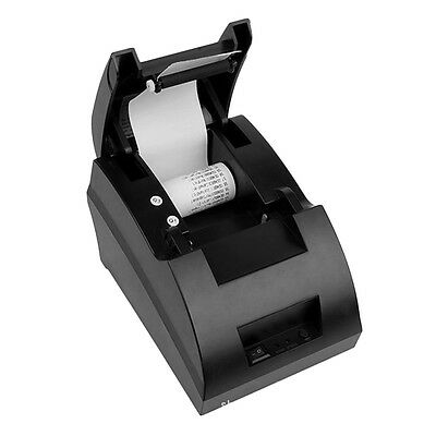 USB Mini 58mm POS Thermal Dot Receipt Bill Printer Set Roll Paper POS-5890C G#