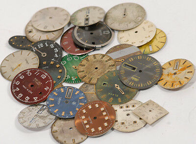 Lot of  10  WATCH DIAL Vintage   Steampunk Art or for parts