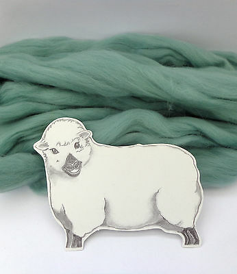 TEAL MERINO dyed wool tops / roving / needle felting  50g