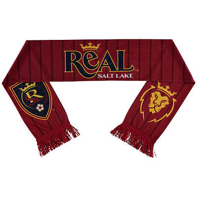 Real Salt Lake adidas Jersey Hook Sublimated Scarf - Red - MLS