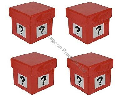 4 x 5cm Mystery Gift Box Question Mark Similar to Deal or No Deal Present