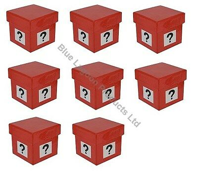 8 x 5cm Mystery Gift Box Question Mark Similar to Deal or No Deal Present