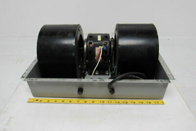 """Electric Enclosure Cooling Fan 115V W/Two 2"""" W x 5"""" Dia. Wheels 1550 Rpm"""