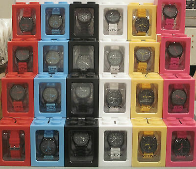 Wholesale lot of Vitka watches 50 pieces assorted Neon colors Black Sold Out