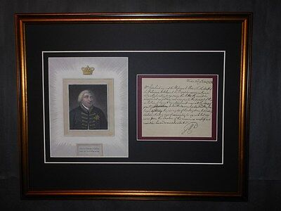 King George III Signed Letter Revolutionary War Peace Reprint