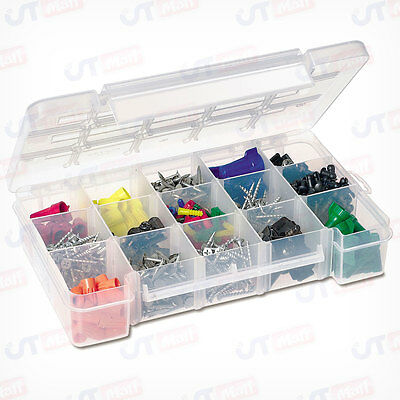 Akro-Mils 5805 Plastic Parts Storage Medium Clear Case for Hardware Craft Bead