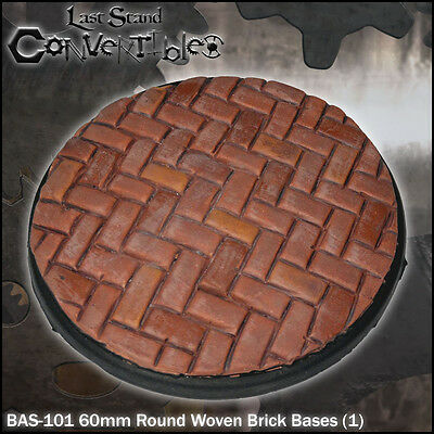 LAST STAND CONVERTIBLES BITS WOVEN BRICK BASES - 1x 60mm ROUND