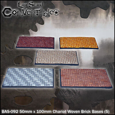 LAST STAND CONVERTIBLES BITS WOVEN BRICK BASES - 5x 50mm x 100mm CHARIOT