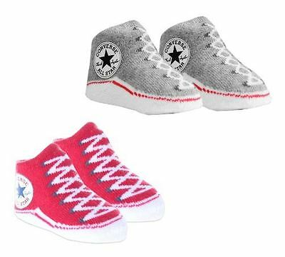 Converse Baby Bootie Socks Gift Box - Red & Grey Heather - 2 Pack