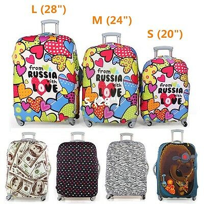 """20-28"""" Trolley Travel Luggage Protector Elastic Suitcase Cover Bag Dust-Proof"""