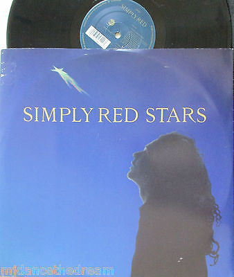 """SIMPLY RED ~ Stars ~ 12"""" Single PS"""