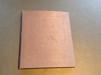 1920's Victor Victrola Phonograph Record Index Book