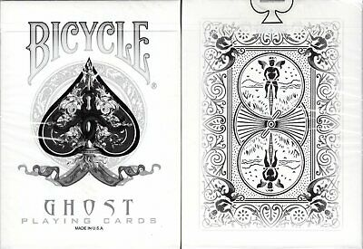 Ghost White Deck Bicycle Playing Cards Poker Size USPCC Custom New Ellusionist