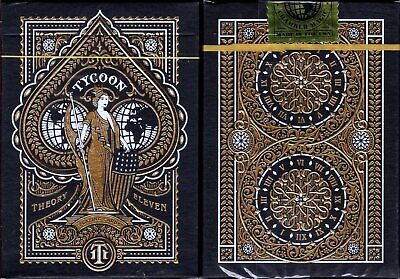 Tycoon Black Deck Playing Cards Poker Size USPCC Theory 11 Limited Edition NEW