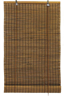 """3.5' x 6' 42"""" x 72"""" Bamboo Espresso Brown Black Roll Up Window Blinds Shade"""