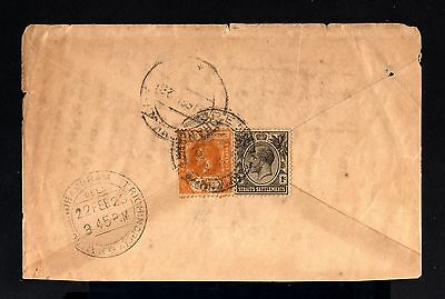 240-STRAITS SETTLEMENTS-OLD COVER SINGAPORE to TRICHINOPOLY (india)1928.British