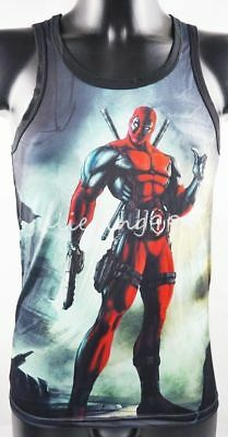 5b8504529d2d1 New X-Men X-Force Deadpool Tank Top Sleeveless Vest TOMMY DOOYAO Men Sport