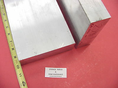 "2 Pieces 2""x 6"" ALUMINUM 6061 FLAT BAR 10"" long SOLID T6511 2.0 Plate Mill Stock"