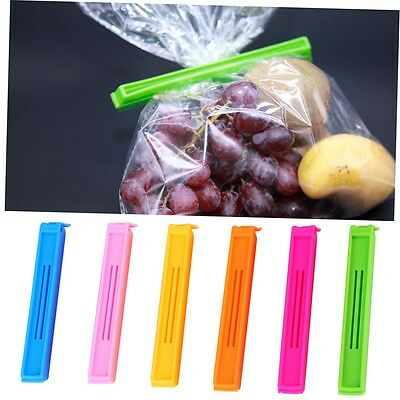 6pcs Kitchen Storage Food Snack Seal Sealing Bag Clips Clamp Plastic Tool G#