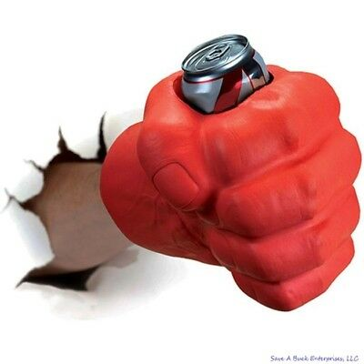 BigMouth Inc - THE BEAST GIANT RED FIST - Drink Can Beer Cooler Koozie Kooler